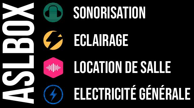 ASLBOX – Sonorisation, Eclairage, Location de salle.
